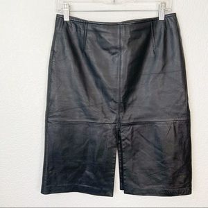 Cache Leather Skirt Black Size 6